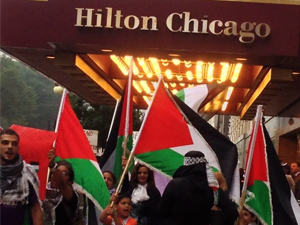 """ByBill Chambers, Chicago Monitor Attendees of the Jewish United Fund """"Chicago Stands With Israel"""" fundraiser at the Chicago Hilton last night were met with over 250 protestors picketing outside as […]"""
